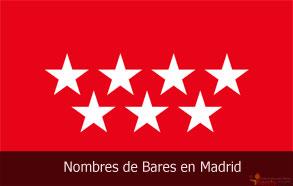 Nombres de Bares en Madrid