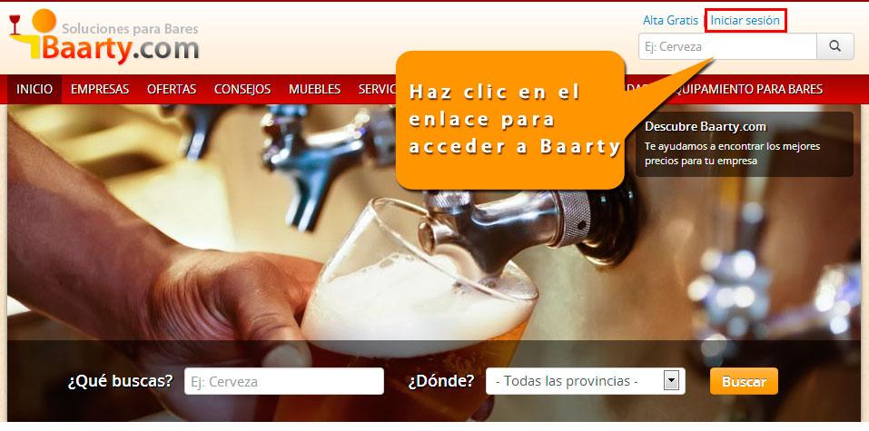 ómo acceder a tu espacio privado en Baarty.com