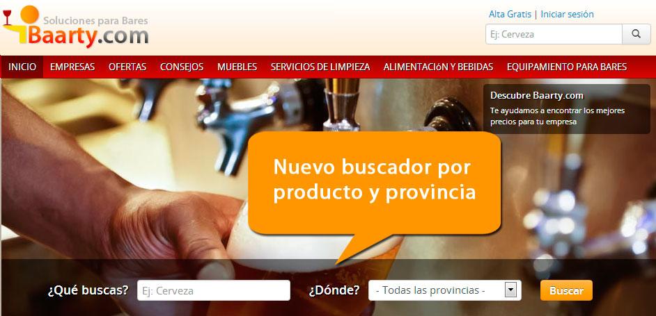 Buscador por producto y provincia