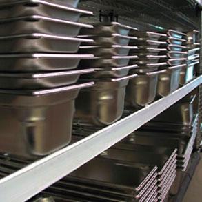 Cubetas de acero inoxidable: almacenamiento higiénico y práctico