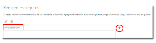 Incluir remitente seguro en Hotmail - Outlook
