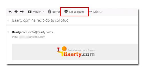 Excluir correo de spam en Yahoo