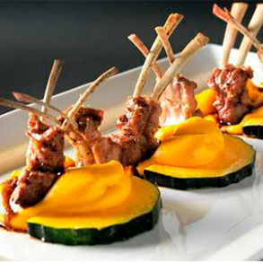 La presentación es importante en un restaurante gourmet