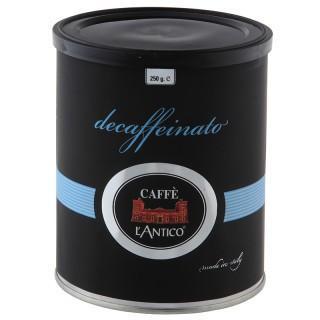 Café descafeinado. En latas de 250 gramos