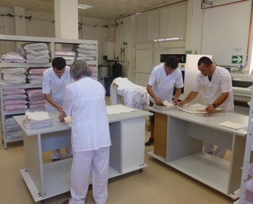 Lavandería Industrial.Centro Especial de Empleo Salutnet
