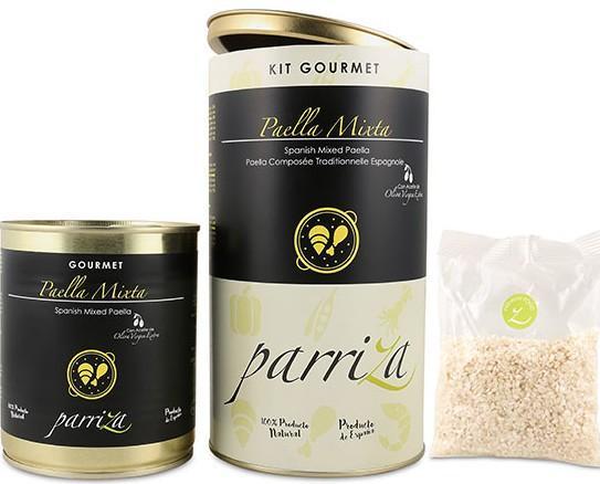 8 - Kit Gourmet Paella Mixta, familia. Kit Gourmet Paella Mixta (2-3 raciones)