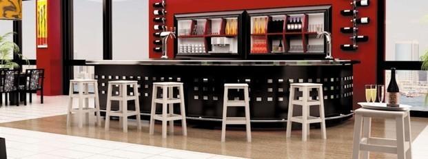 Muebles para Bares. Barras de Bar. Taburetes y barra para hostelería