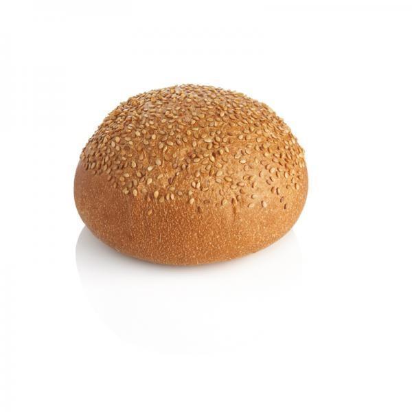 Pan de hamburguesa . Pan de hamburguesa con sésamo de 80 gramos