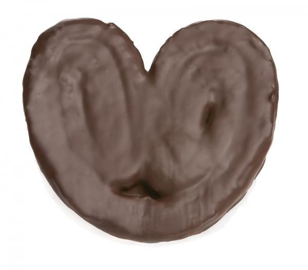 Bollería Congelada.Palmeras de chocolate, peso: 90 gr
