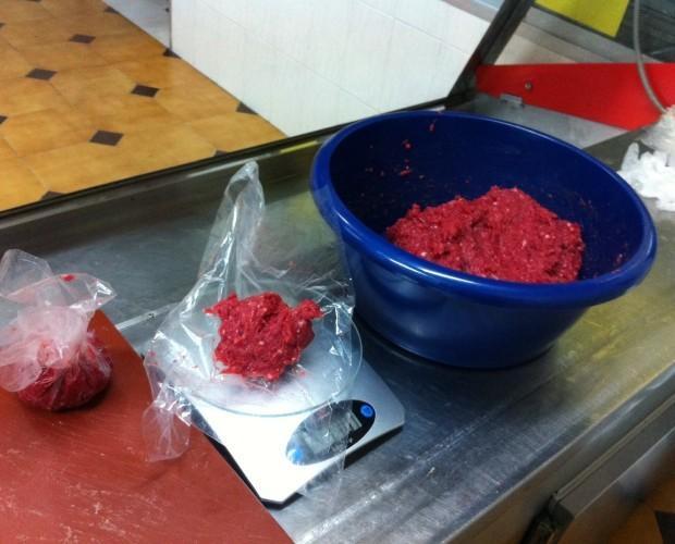 Carne de Buey.Carne picada de buey, para hamburguesas
