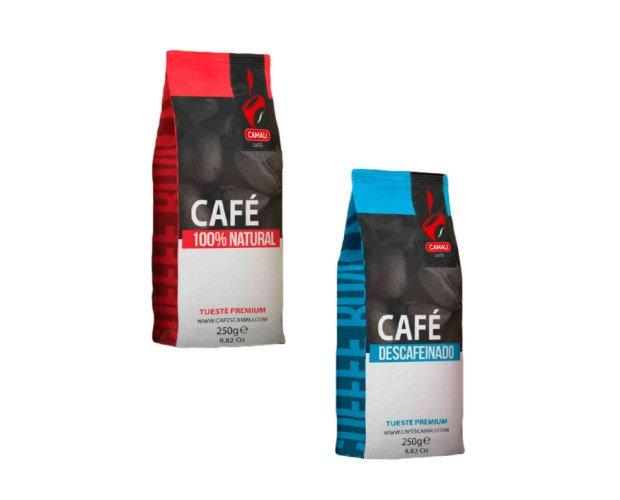 Café Gourmet.Descafeinado y café natural