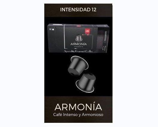 Café en cápsula armonía. Un paseo místico por el tentador aroma de un Espresso tostado intenso con notas especiadas y matices a madera