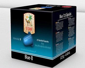 El Dátil Blue. Descafeinado con una intensidad 8