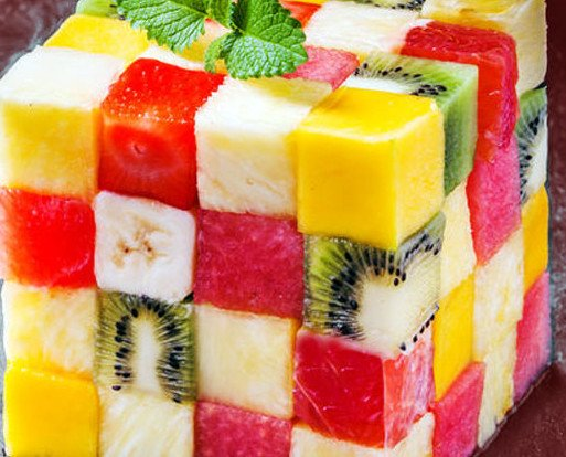 Para los más peques. Cubo de frutas