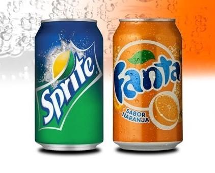 Refrescos Coca-Cola. Dos refrescos clásicos: Fanta y Sprite