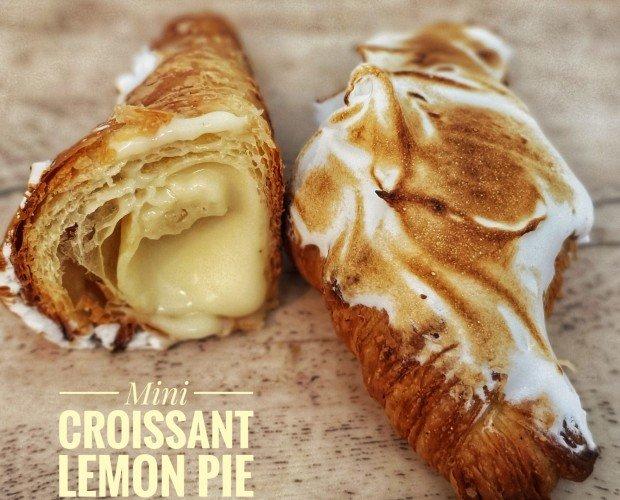 Mini bolleria. Mini croissant de lemon pie