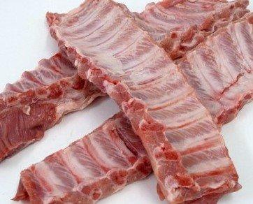 costillar iberico. costilla de cerdo iberico, al estilo St Louis. Genero fresco y/o congelado, siempre envasado.