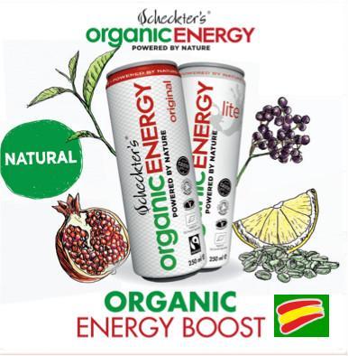 Echeckters Energy Boost spain. Bebida Energética 100% Natural