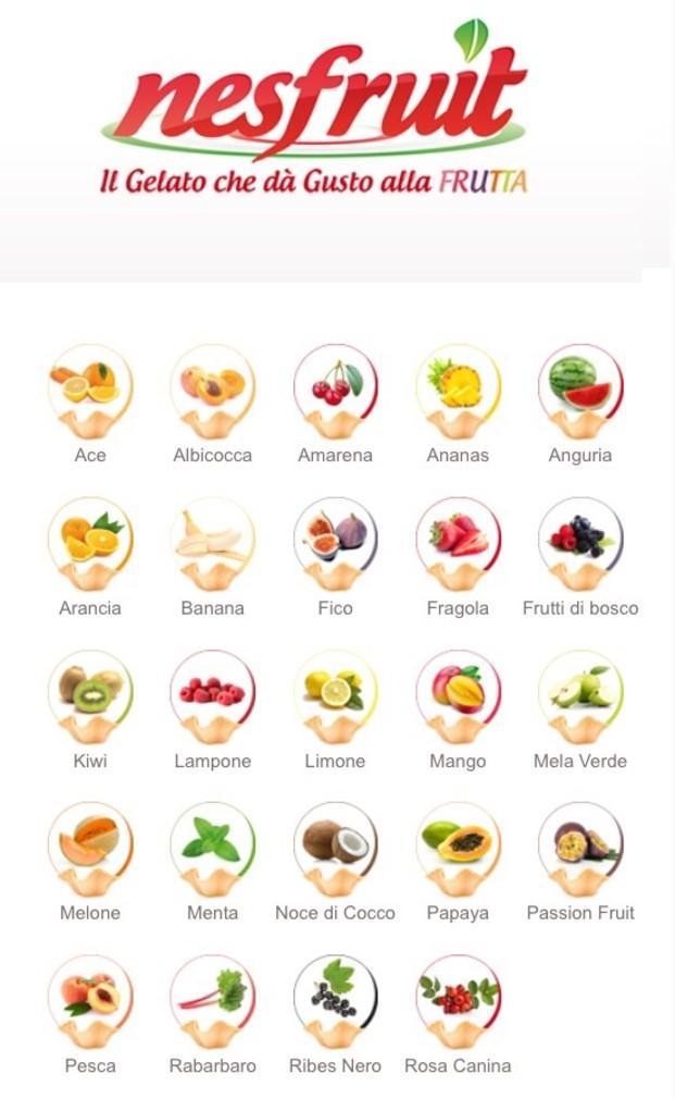 Helado Artesanal.Helados de frutas