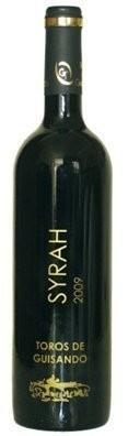 Botella Syrah. Vino tinto de calidad