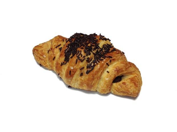 Croissant chocolate. Delicioso croissant de chocolate