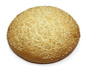 Hamburguesa sésamo. Pan de hamburguesa con sésamo