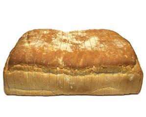 Pan cuadrado. Pan cocido congelado cortado