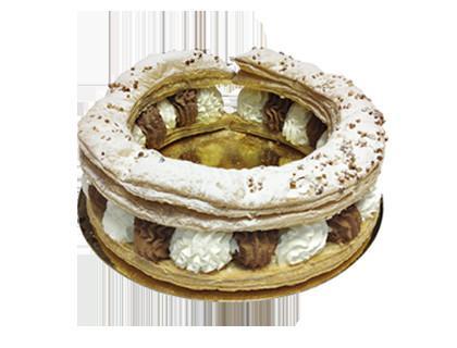 Tortel de nata-trufa. Delicioso tortel