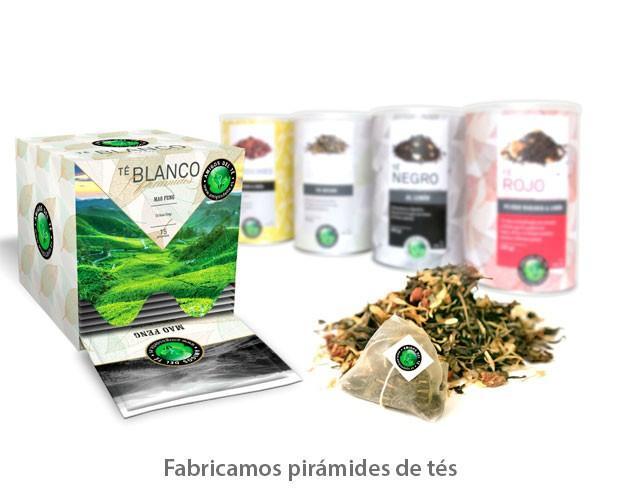 Fabricantes de tés. Fabricamos pirámides de tés