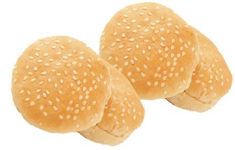 Pan de Hamburguesa.Mini pan de hamburguesa con sésamo