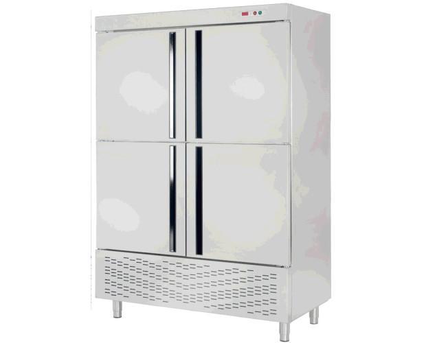 Armario refrigerado inox. Evaporación automática del agua de desescarche mediante serpentin evaporativo doble