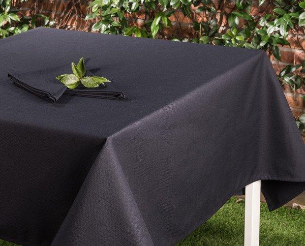 MANTEL-CREPE-NEGRO. Mantel Crepá Súper Negro,50% Algodón 50% Poliéster