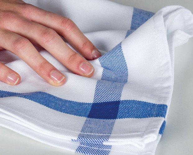 PAÑO-BASIC. Paño Basic, cenefa azul, verde, rojo, 100% algodón