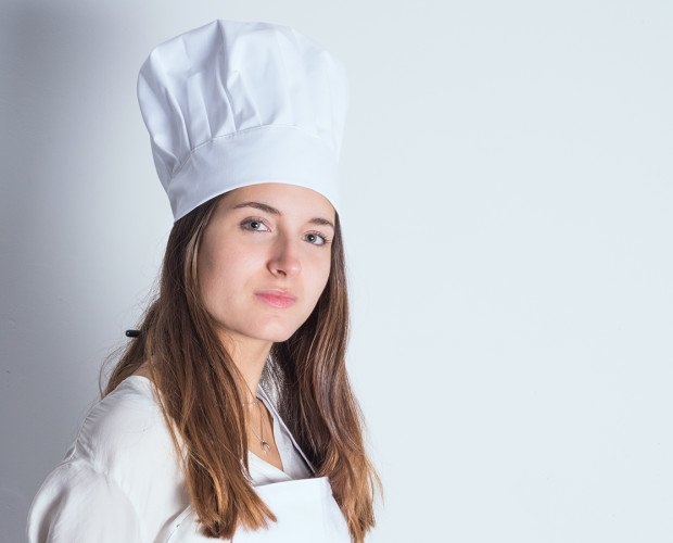 GORRO-CHAMPIÑON. Gorro Chef, champiñón, blanco