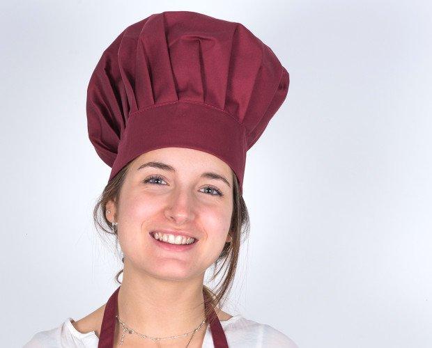 GORRO-CHAMPIÑON. Gorro Chef, champiñón, burdeos