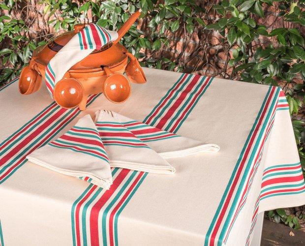 MANTEL-ROSELLON. Mantel rústico Rosellón, 100% algodón
