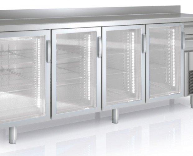 Mesas de congelación. Ffabricadas en acero inox
