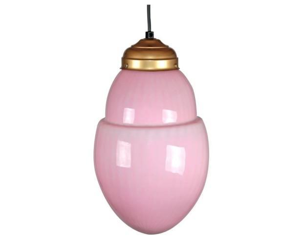 Lámpara roca rosa. Con acabados en latón