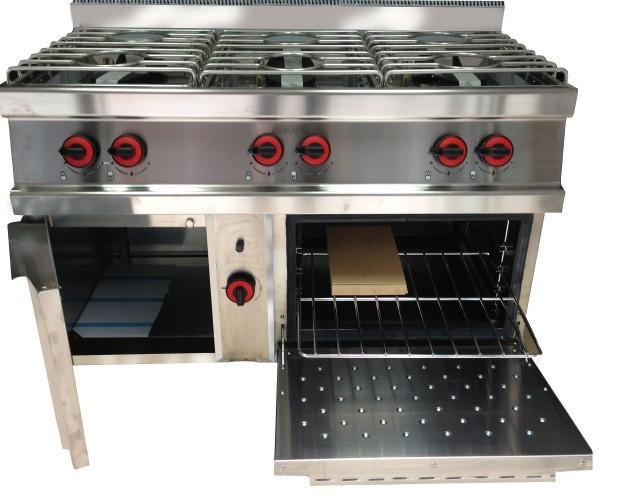 Eurotek SBM hosteler. Cocina industrial a gas con Horno