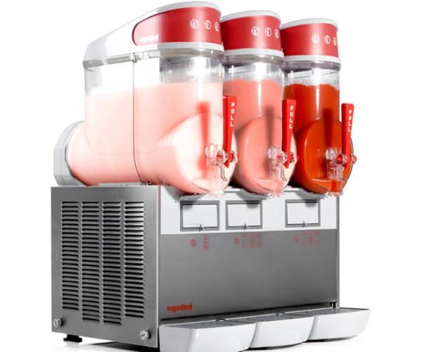 Maquina Granizados. Máquina de granizados Ugoolini, de 1, 2 y 3 sabores