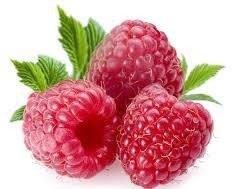 Frutas. Frambuesas. Delicias