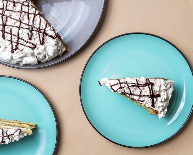 Tarta amanda. Esta espectacular tarta contiene cuatro texturas diferentes