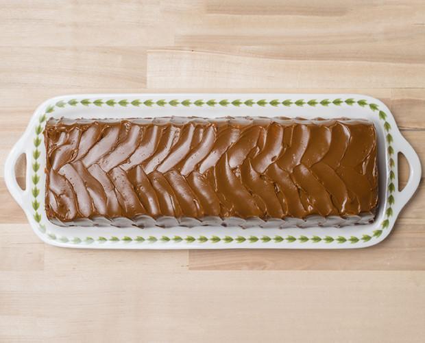 Plum cake. Dulce de creación propia de origen argentino, elaborado con plátano y dulce de leche