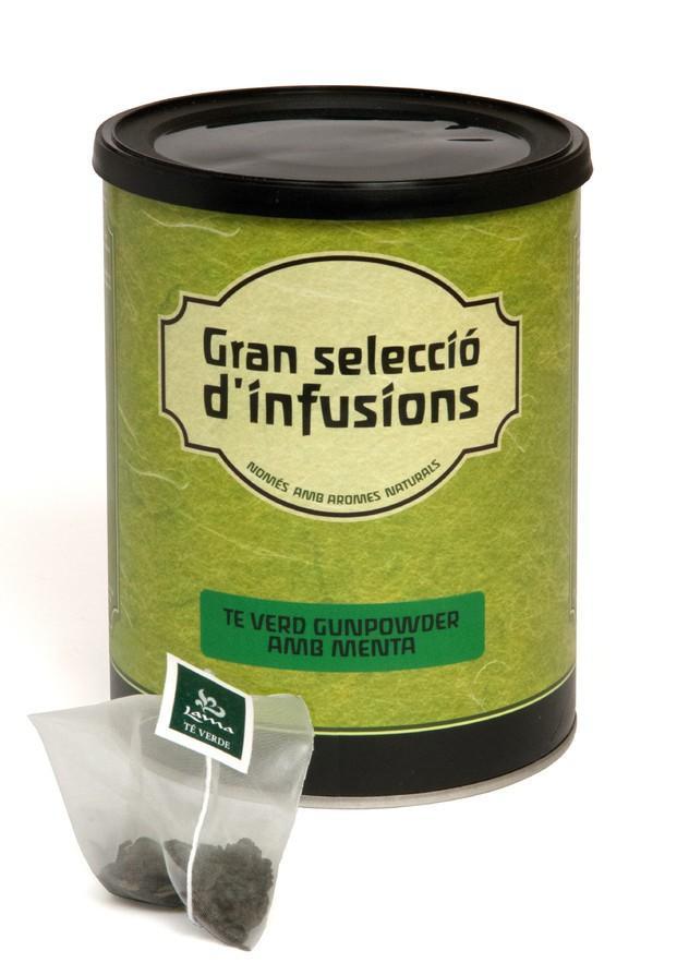 Infusiones. Cajas de 100 bolsitas, 4 variedades de infusiones