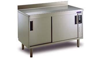 Equipos para bares. Mesas calientes y otro mobiliario de acero