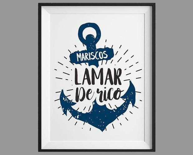 Logotipo. Mariscos Lamarderico