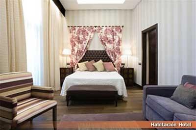 Diseño para hostelería. Decoración de habitación de hotel