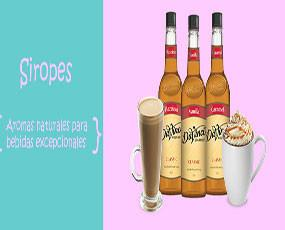 Siropes.Para bebidas frías y calientes variedad de sabores