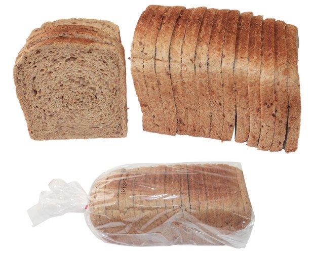 Pan de molde multicereales. Pan para sándwich con cereales