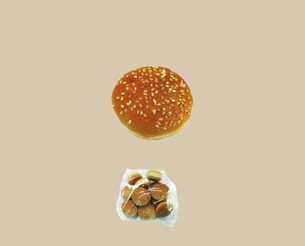 Mini burguer. También disponemos de pan de hamburguesa